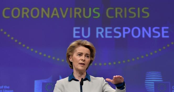 Ursula von der Leyen, la présidente de la Commission européenne, à Bruxelles, le 15 avril.