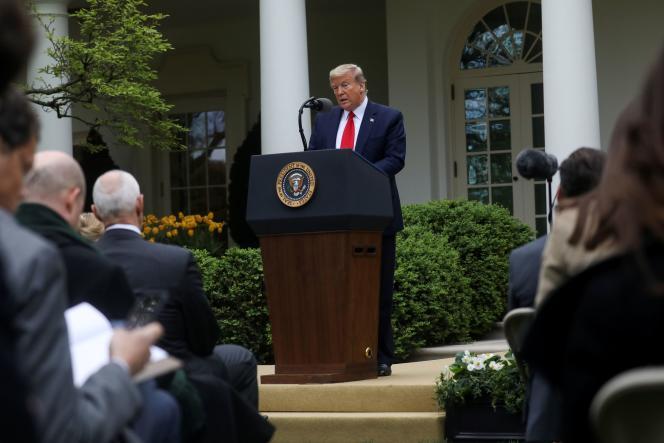 Le président américain, Donald Trump, le 14avril à la Maison Blanche.