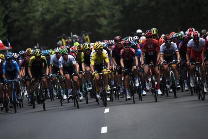 Lors de la neuvième étape du Tour de France, le 14 juillet 2019 entre Saint-Etienne et Brioude.