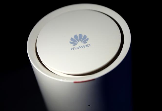 Un routeur Huawei présenté à Londres en février 2020.