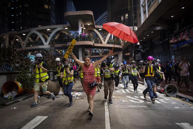 Cliché de Nicolas Asfouri pris lors des manifestations à Hong-Kong en octobre 2019.