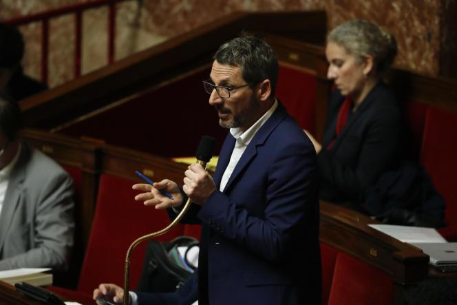 Le député Matthieu Orphelin, le 4 février à l'Assemblée nationale.