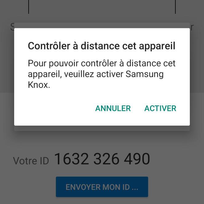 Cette étape où il faut « Activer» ne s'affiche qu'avec les appareils de marque Samsung.