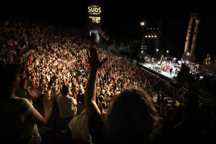 Un concert lors du festival Les Suds, à Arles (Bouches-du-Rhône), le 9 juillet 2019.