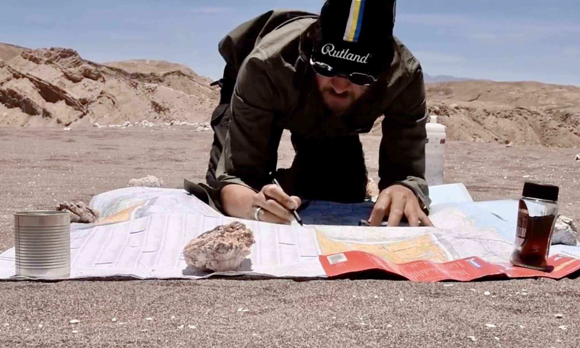 L'Anglais Brendon Tyree en plein désert d'Atacama.