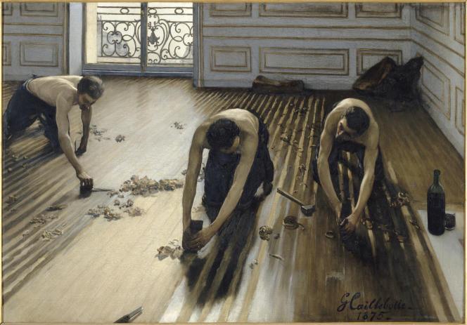 « Les Raboteurs de parquet» (1875), de Gustave Caillebotte (1848-1894).