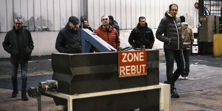 salaries de l usine luxfer occupant leur usine gerzat 2 mars 2020 france