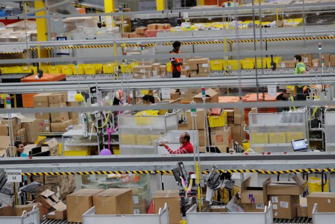Un entrepôt d'Amazon à Robbinsville, dans le New Jersey, le 2 décembre 2019.