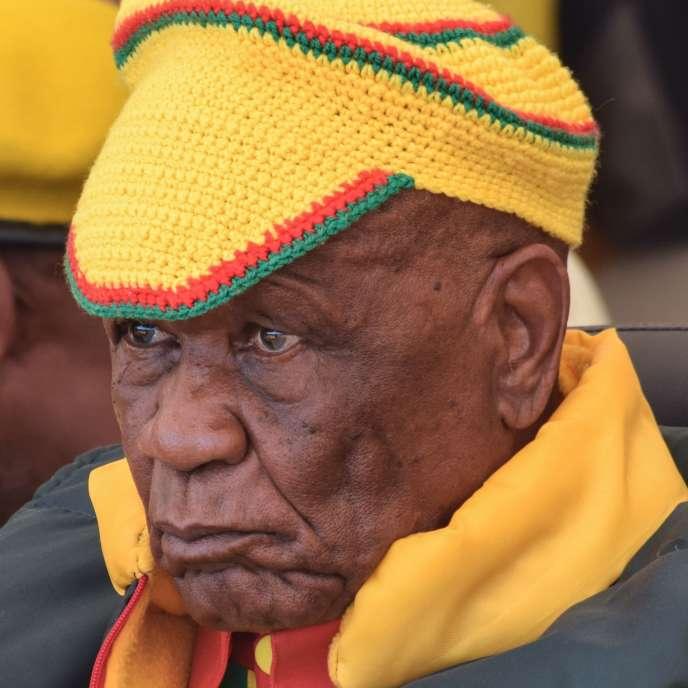 Le premier ministre Thomas Tabane le 8 mars 2020, à Maseru, capitale du Lesotho.