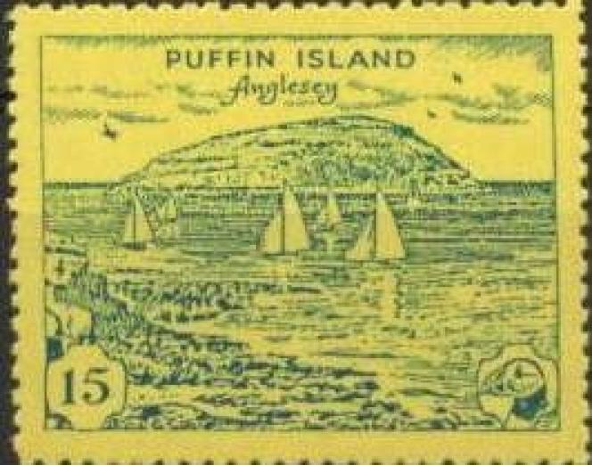 Timbre de Puffin Island.
