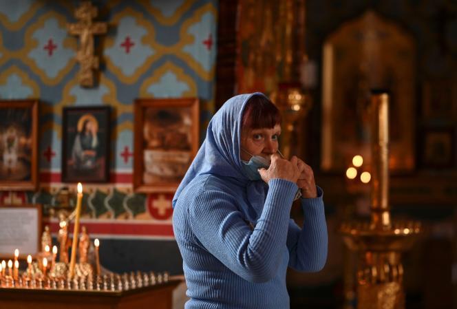 Dans une cathédrale de Krasnodar, le 19 avril.