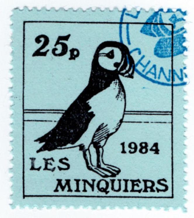 Vignette des Minquiers (1984), dans les îles de la Manche.