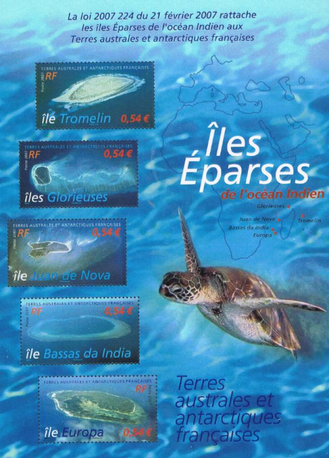 Bloc-feuillet des Terres australes et antarctiques françaises consacré aux îles Eparses (2007).
