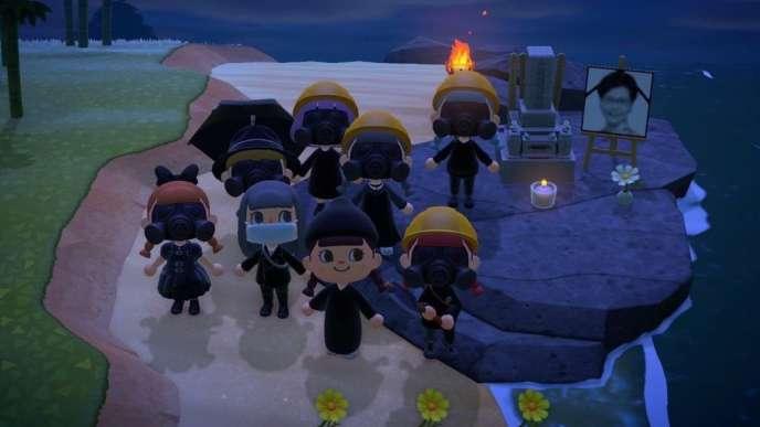 Capture d'écran du jeu Nintendo «Animal Crossing: New Horizons» prise par l'activiste Joshua Wong à Hongkong, le 10 avril.
