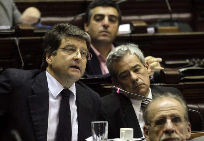Felipe Michelini (à gauche), à Montevideo, en 2011.