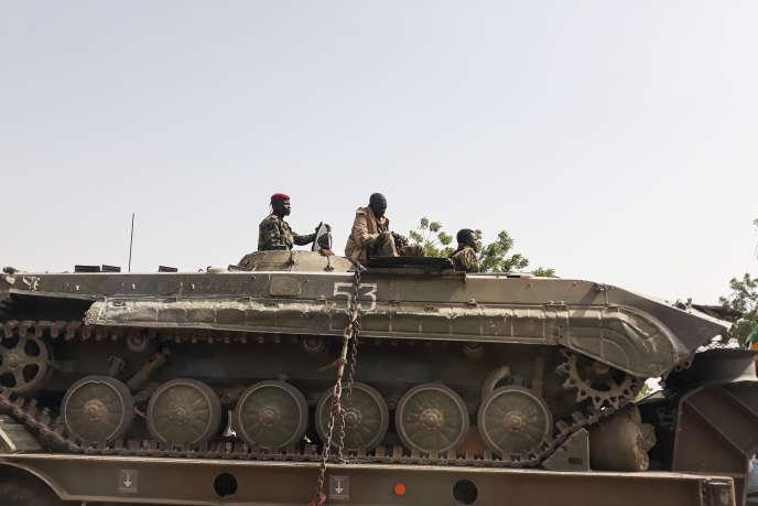 Soldats de l'armée tchadienne à N'Djamena le 3 janvier 2020, de retour d'une offensive contre les djihadistes de Boko Haram.
