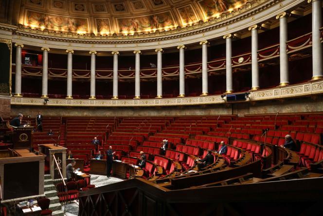 Lors d'une session de questions au gouvernement à l'Assemblée nationale à Paris, le 14 avril.