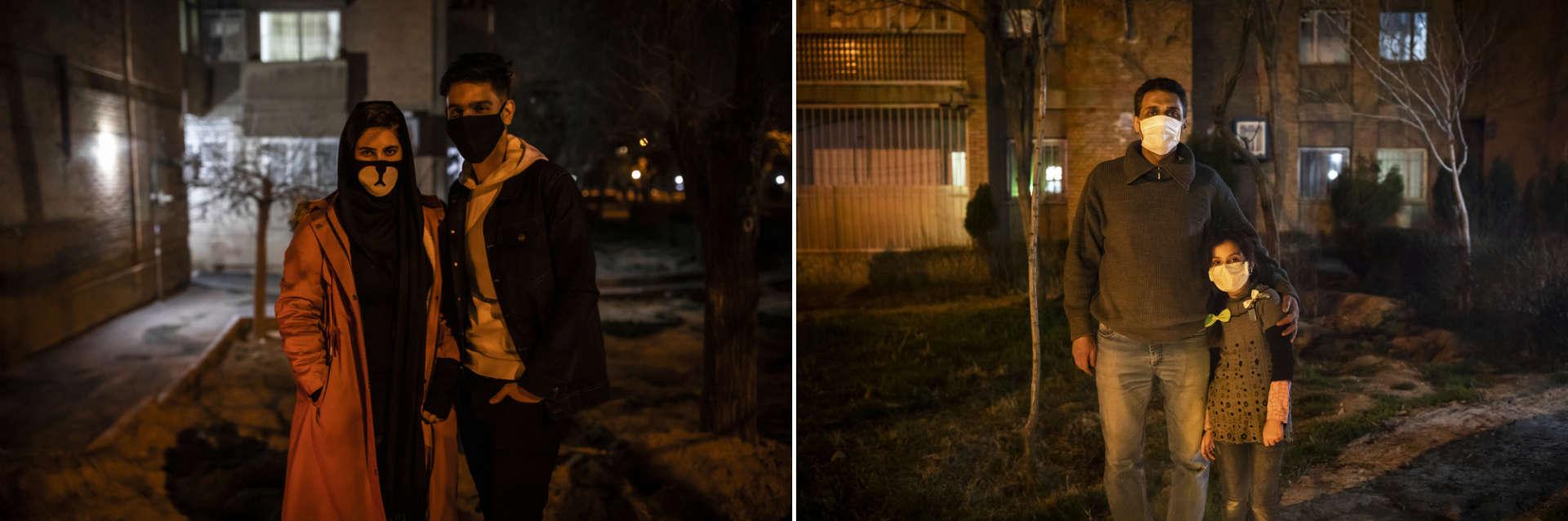 Arak, le 17 mars. Une jeune femme et son frère lors de laFête du feu, célébrée la veille du dernier mercredi de l'année du calendrier perse.