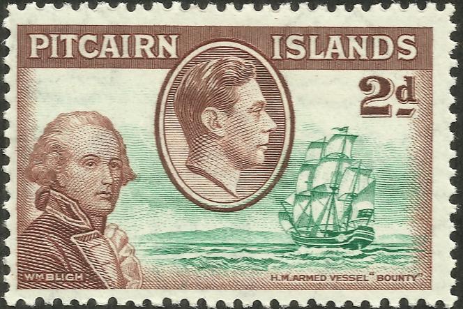 Pitcairn Islands, Bligh et le« Bounty» (1940).