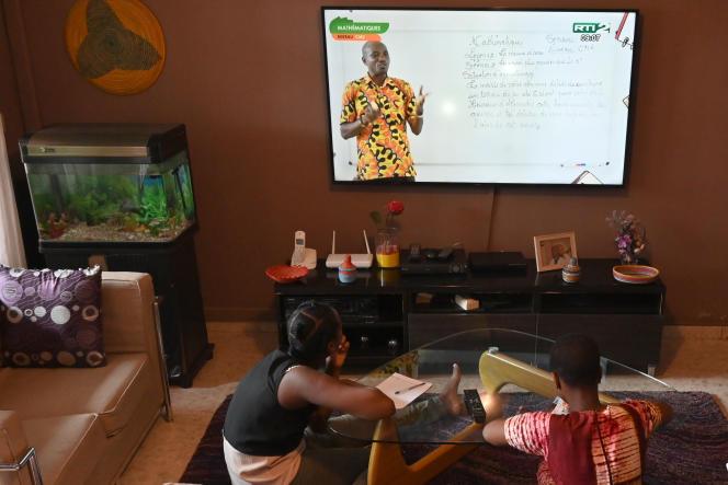 Dans une famille d'Abidjan, le 9 avril 2020.