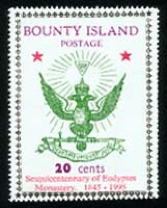 Pseudo-timbre de Bounty Island (près des Fidji).