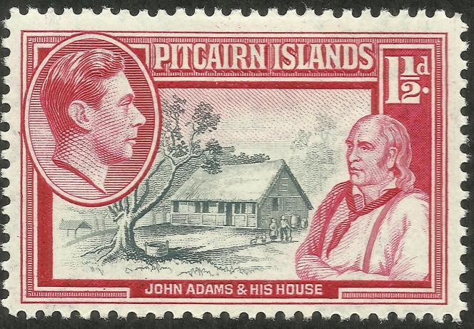 John Adams dirigea Pitcairn.