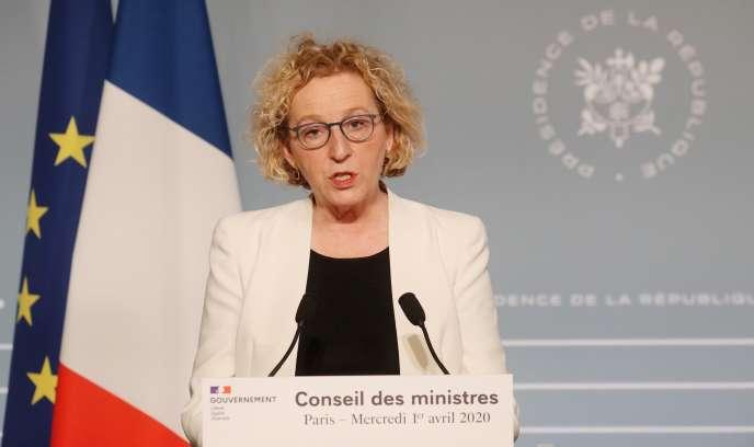 Conférence de presse de Muriel Penicaud, ministre du travail, vendredi 1er mai, à l'Elysée.