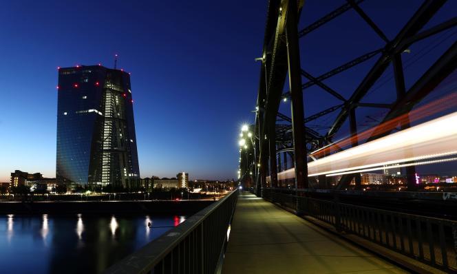Le siège de la Banque centrale européenne, à Francfort (Allemagne), le 22 avril.