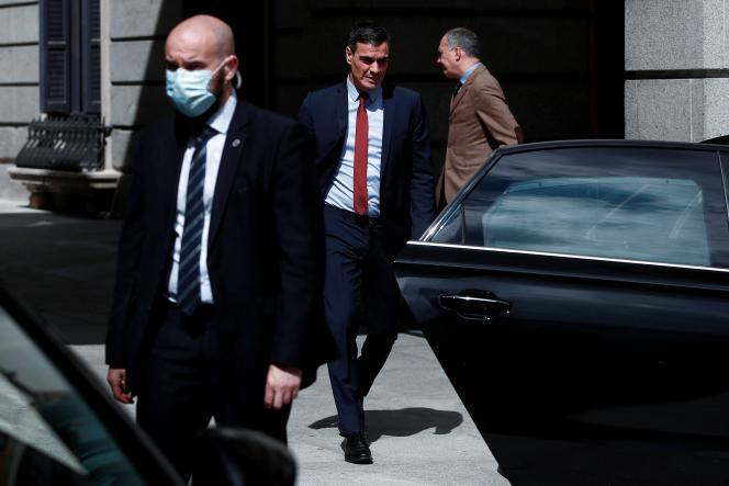 Le président du gouvernement espagnol, Pedro Sanchez, le 22 avril 2020, à Madrid.