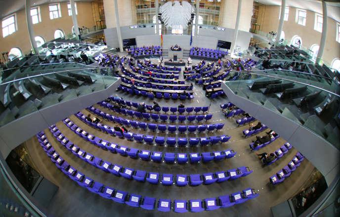 Une session du Parlement allemand, le 22 avril.