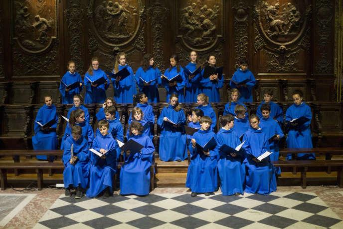 La Maîtrise de Notre-Dame de Paris, le 6 juin 2014, dans la cathédrale Notre-Dame de Paris.