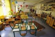 Une salle de classe vide à Nice lors du premier confinement, le 22 avril 2020.