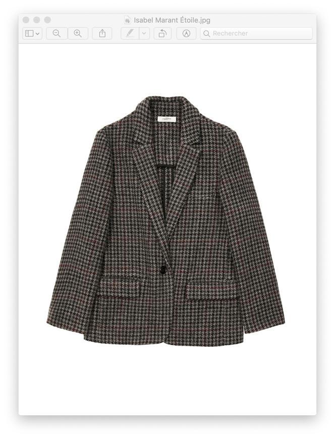 Veste Charly Etoile, en tweed de laine, Isabel Marant, 390€.