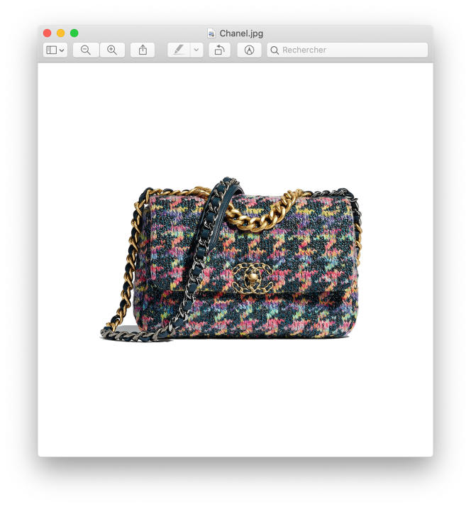 Sac Chanel 19, en tweed, cuir et métal, Chanel, 4 600 €.