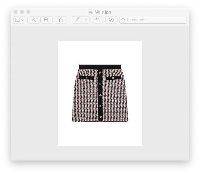 Jupe façon tweed de coton et polyester, Maje, 195€.
