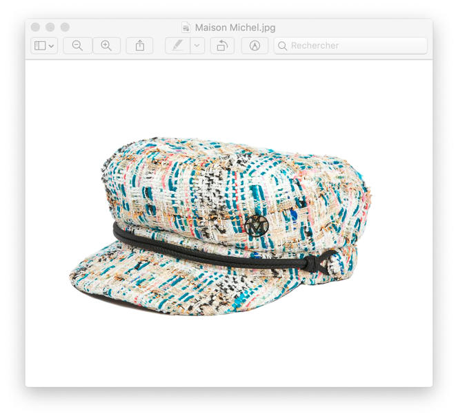 Casquette New Abby, en tweed, Maison Michel, 530 €.