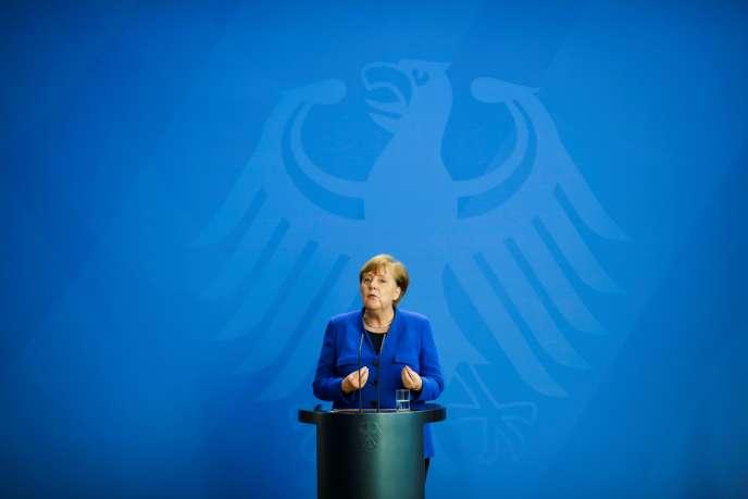La chancelière allemande Angela Merkel, le 220 avril 2020, à Berlin.