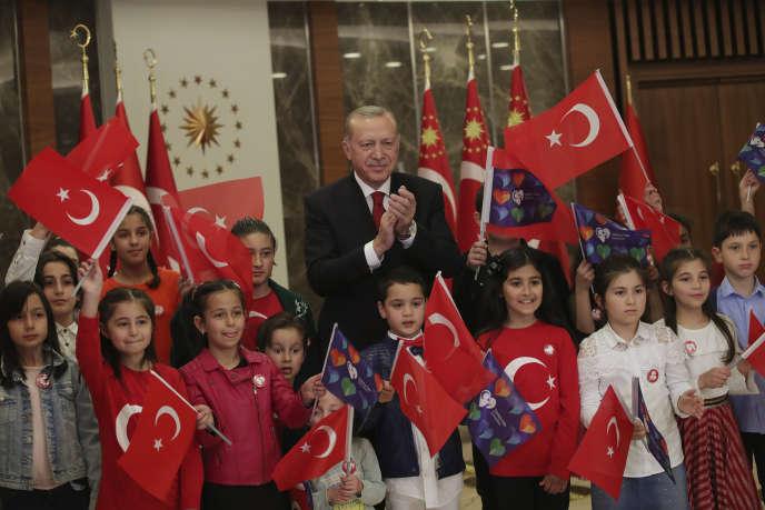 Le président turc Recep Tayyip Erdogan, lors de la journée de la souveraineté nationale et des enfants, à Istanbul, le 23 avril.