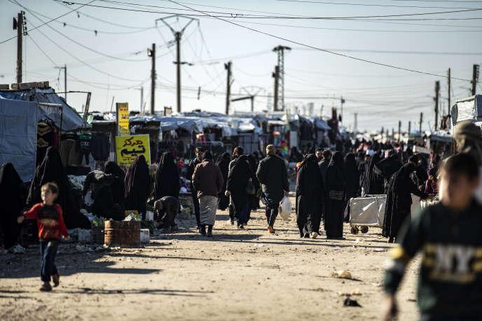 Dans le camp de réfugiés de Al-Hol, dans le nord-est de la Syrie, le 14 janvier.