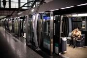 La ligne 14 du métro parisien, le 23 avril 2020, durant le premier confinement dû à la pandémie de Covid-19.