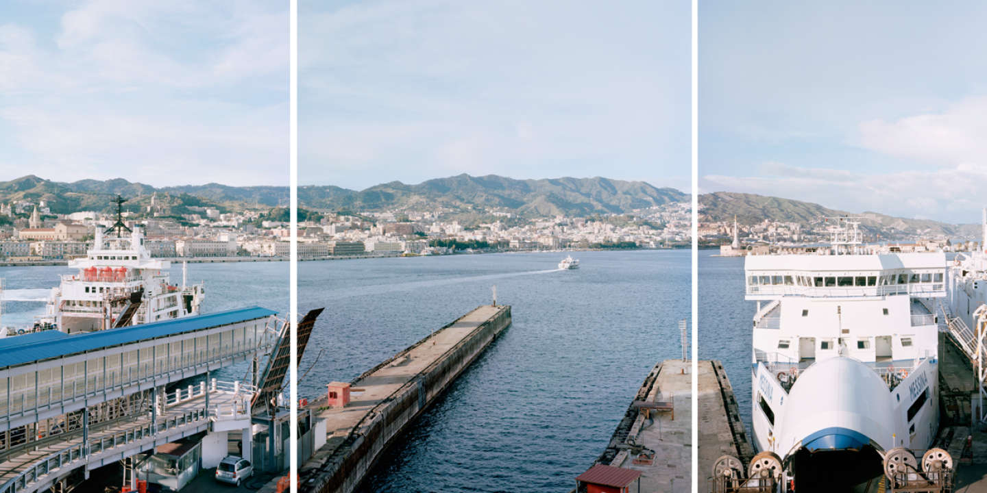 THE BRIDGE OVER THE STRAIT OF MESSINA  The harbour in Messina Messina, 2019.