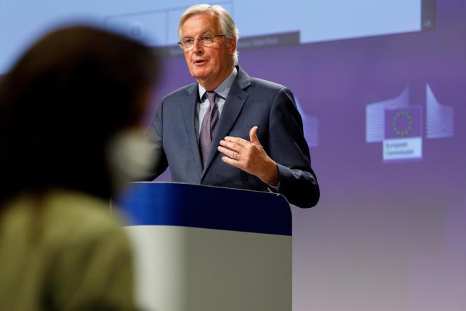 Michel Barnier, le 24 avril à Bruxelles.