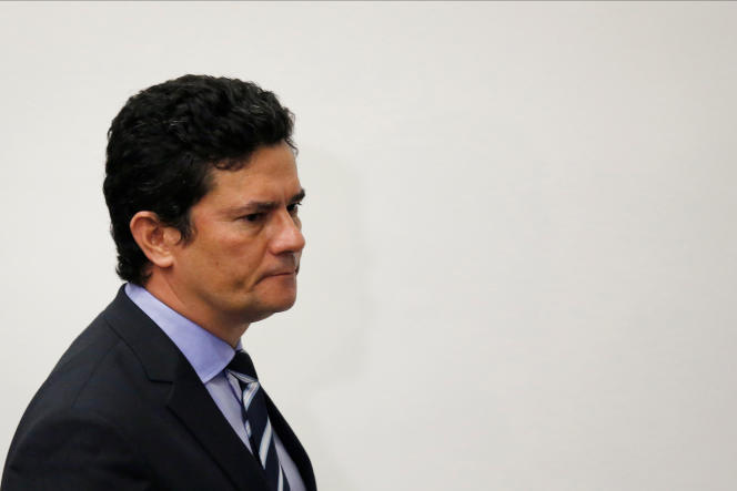 L'ancien ministre brésilien de la justice Sergio Moro à Brasilia le 24 avril.