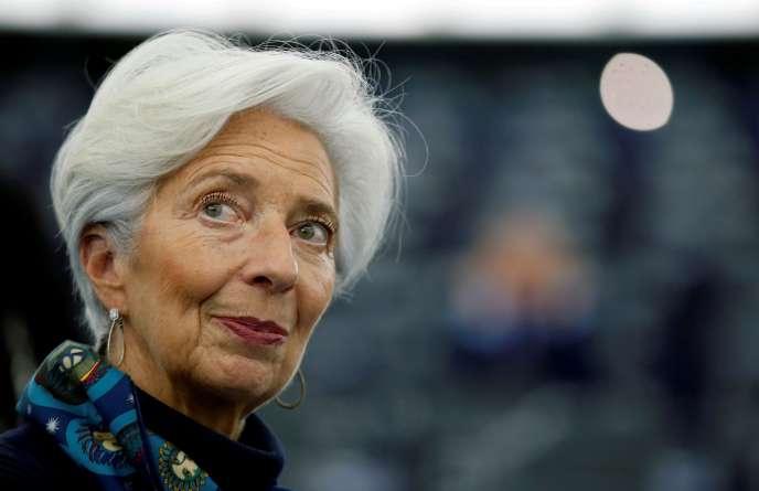 La présidente de la Banque centrale européenne, Christine Lagarde, à Strasbourg, le 11 février.