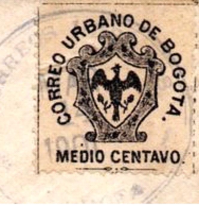 Timbre de la poste municipale de Bogota.