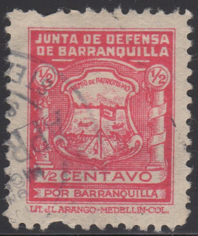 Vignette patriotique de Barranquilla (1927-1928).