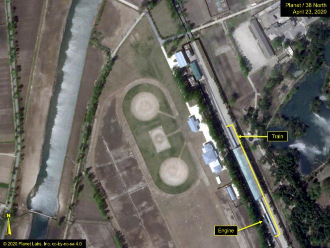 Photo satellite de Wonsan fournie parPlanet Labs et annotée par 38 North.
