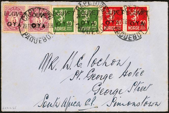 Prix atteint: 4500 dollars chez Harmer en 2016 pour ce pli de l'expédition de 1934 à l'île Bouvet.