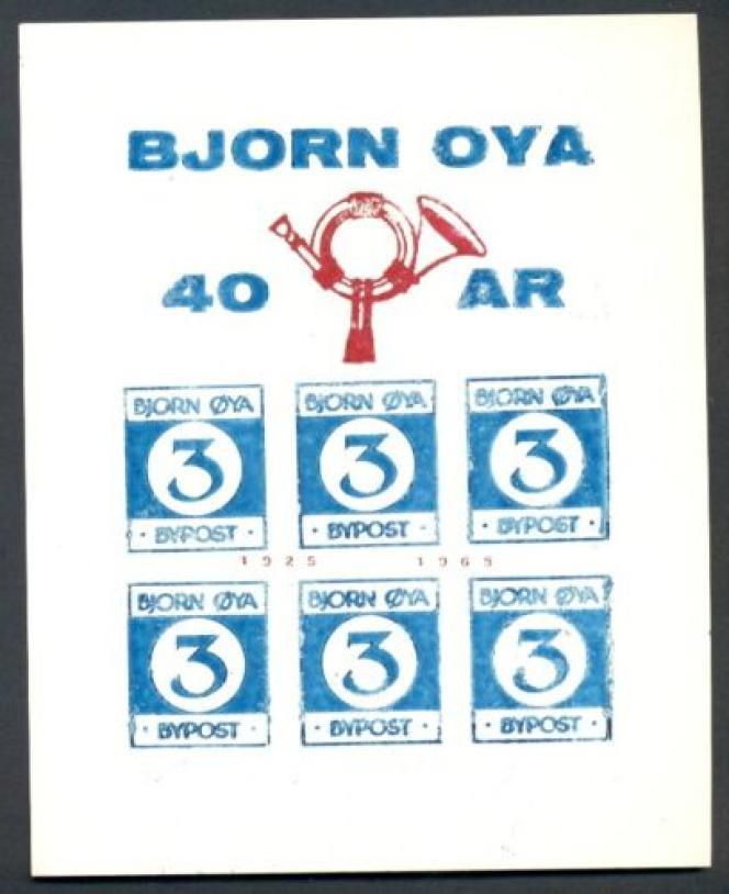 Feuillets de vignettes de Bjorn Oya (île aux Ours). Compter une soixantaine d'euros sur les plates-formes de vente.