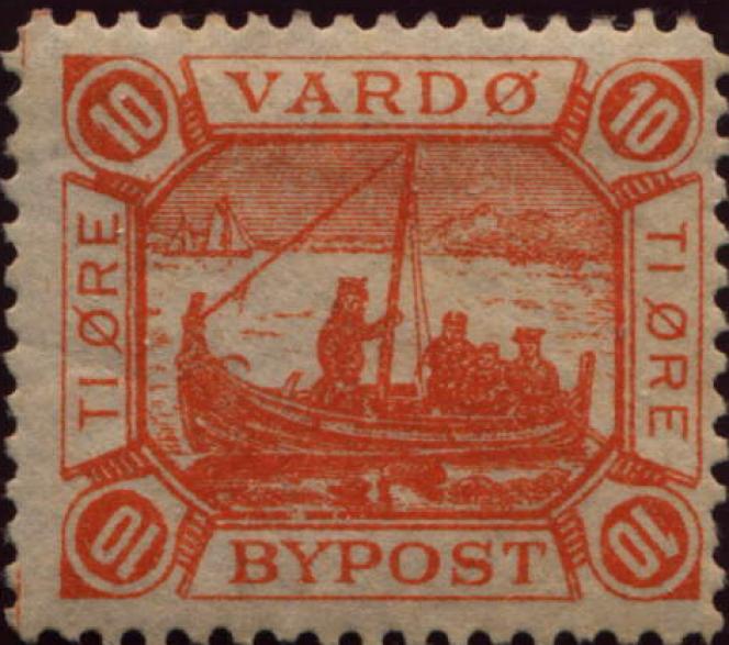 Vignette de la poste locale de Vardo (Norvège).